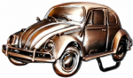 . VW Copper Beetle Officially Licensed Belt Buckle with display stand and presentation box. Code VW11